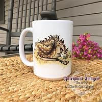 Daydreamer and Unusual Friends - Dragons - Ceramic Coffee Mug