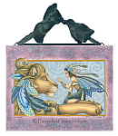 Thee Encounter - Fairy and Feathered Lion Ceramic Art Tile