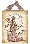 Aiming for love II - Archer Fairy Ceramic Art Tile