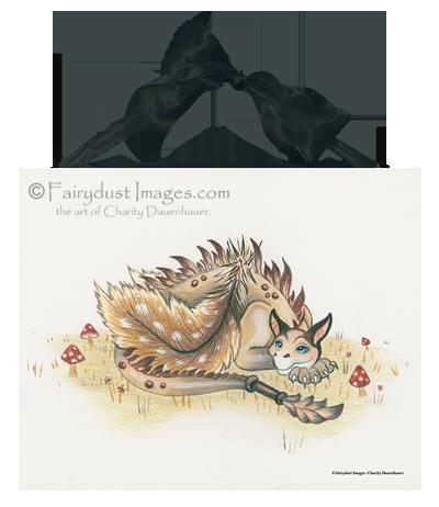 Daydreamer - Dragon Ceramic Art Tile