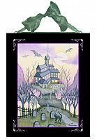 Heebie Geebies - Halloween House - Ceramic Art Tile