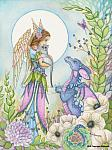 The Secret Garden - Angel and Dragon Art Print