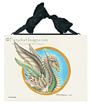 The Feathered Dragon - Ceramic Art Tile