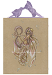 The Shepherd - Pink Mermaid Ceramic Art Tile
