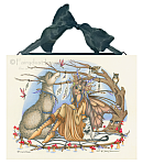 Catching Dreams - Fairy, Wolf and Owls - Ceramic Art Tile