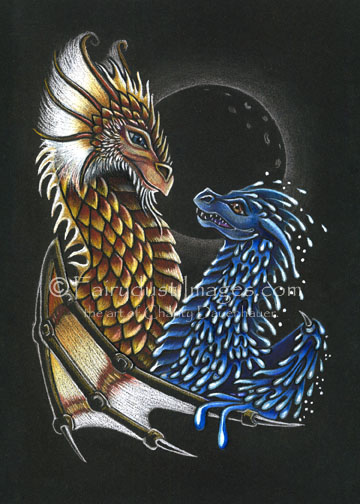 Diona - Fire and Water Dragon - Limited Edition Art Print