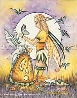 Kandi Korn - Halloween Fairy Art Print