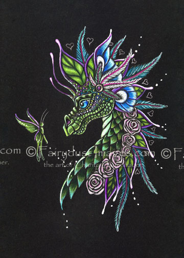 Looking Good - Limited Edition Dragon Art Print
