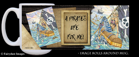 A Pirates Life, Mermaid Coffee Mug