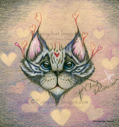 Meow, Whimsical Cat Art Print