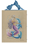 Bubbles - Mermaid and Dolphin Ceramic Tile