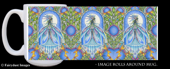 Tropical Dream - Dragonfly Fairy Coffee Mug