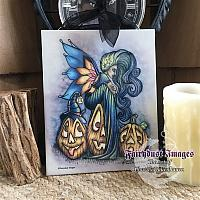 Where's my Hat - Halloween Fairy Ceramic Art Plaque