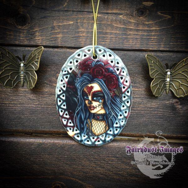 Wild Heart - Sugar Skull Ornament