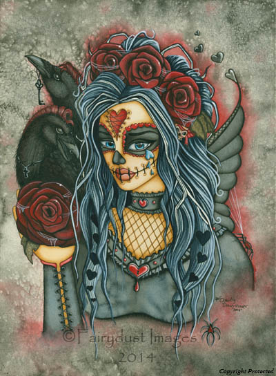 Wild Heart - Sugar Skull Fairy Art Print