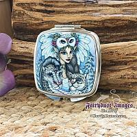 Winter's Snow Queen - Fairy Compact Mirror
