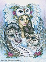 Winter's Snow Queen - Leopard Dragon and Fairy Art Print