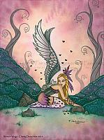 Winter's Wings - Cat Angel Art Print