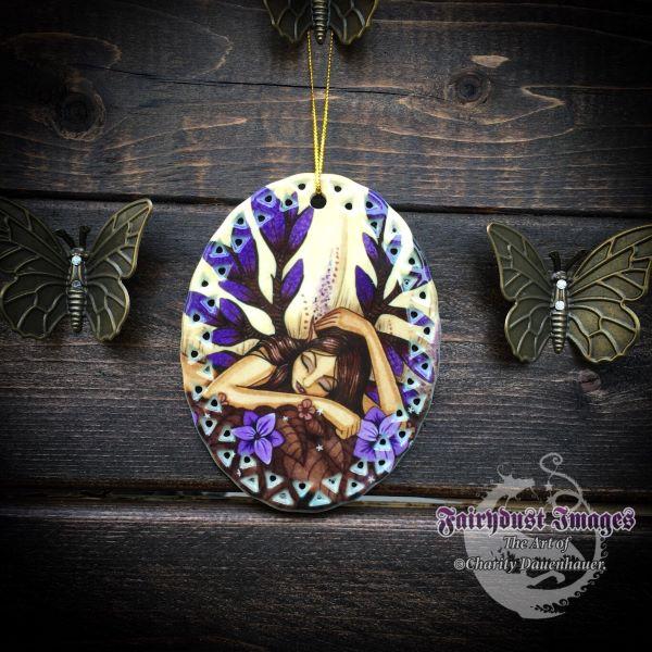 Woodland Fairy - Sleeping Fairy Ornament