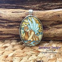 Woodland Tail - Mermaid Cameo Pendant Necklace