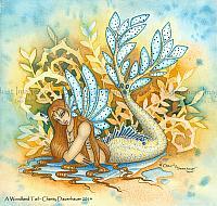Woodland Tail - Mermaid Art Print