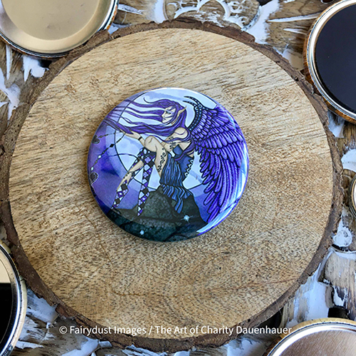 Angelica - Magnet, Keychain, Pocket Mirror or Pin