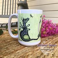 Land of Dragonflies - Fairy and Dragon Coffee Mug