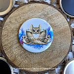Mama Gives a Hoot - Magnet, Keychain, Pocket Mirror or Pin