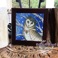 My Feathered Friend - Wooden Frame Art Tile