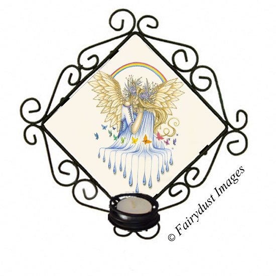Hope - Angel Candle Sconce
