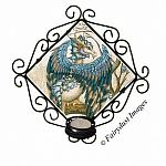 The Beast, Blue Dragon Tile Candle Sconce
