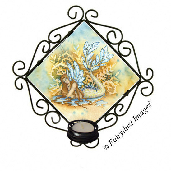Woodland Tail, Mermaid Tile Candle Sconce