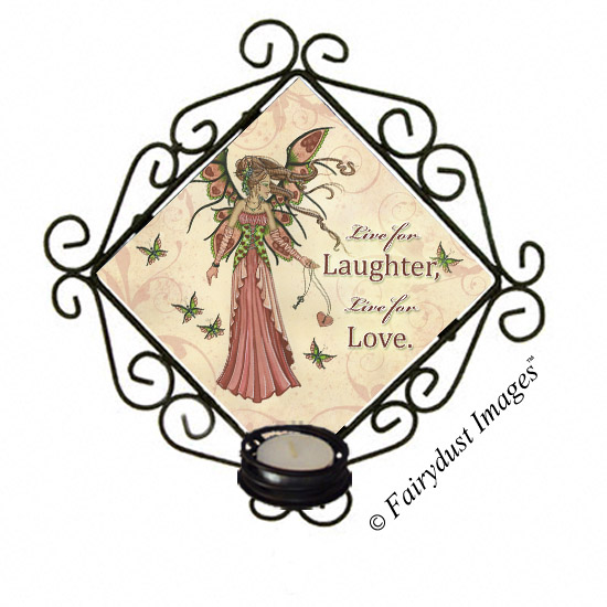 Keeper of Hearts - Valentine's Day Fairy - Candle Sconce