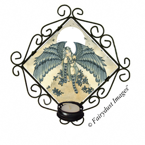 Remembrance - Mourning Angel Candle Sconce