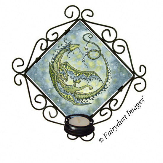 Star Dancer - Dragon Candle Sconce