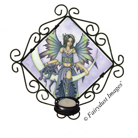 Starry Night - Crescent Moon Fairy Candle Sconce
