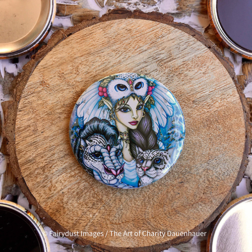 Winter's Snow Queen - Magnets, Keychain, Pocket Mirror or Pin